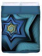 Fractal Star Duvet Cover by John Edwards