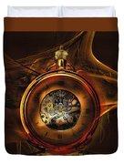 Fractal Time Duvet Cover by Richard Ricci
