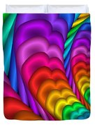 Fractalized Colors -10- Duvet Cover by Issabild -
