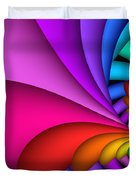 Fractalized Colors -2- Duvet Cover by Issabild -