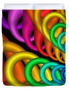 Fractalized Colors -5- Duvet Cover by Issabild -