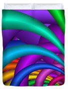 Fractalized Colors -6- Duvet Cover by Issabild -