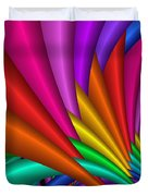 Fractalized Colors -7- Duvet Cover by Issabild -