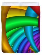 Fractalized Colors -9- Duvet Cover by Issabild -