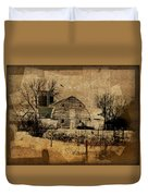 Fragmented Barn  Duvet Cover by Julie Hamilton