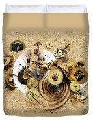 Fragmented Clockwork In The Sand Duvet Cover