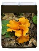 Fragrant Chanterelle Mushroom Duvet Cover