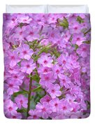Fragrant Phlox Duvet Cover