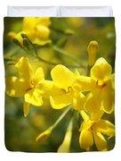 Fragrant Yellow Flowers Of Carolina Jasmine Duvet Cover