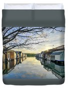 Framed Boathouses Duvet Cover