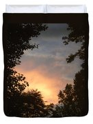 Framed Fire In The Sky Duvet Cover