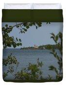 Framed Lighthouse Duvet Cover