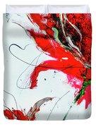 Framed Scribbles And Splatters On Canvas Wrap Duvet Cover