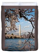 Framed With Blossoms Duvet Cover