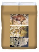 France And Spain: Cave Art Duvet Cover