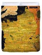 France Map Duvet Cover