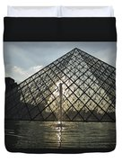 France, Paris The Louvre Museum Duvet Cover