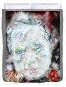 Francis Bacon - Watercolor Portrait.2 Duvet Cover
