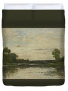 Francois Daubigny   View On The Oise Duvet Cover