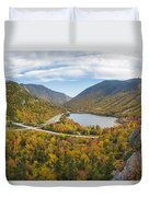 Franconia Notch Autumn View Duvet Cover