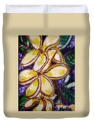 Frangipani In The Tropics  Series 1 Duvet Cover