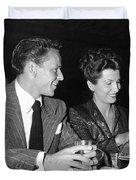 Frank Sinatra And Nancy Duvet Cover