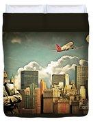 Frank Sinatra Fly Me To The Moon New York 20170506 V3 Duvet Cover