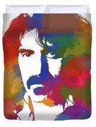 Frank Zappa Watercolor Duvet Cover