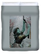 Frankenmuth Fountain Girl Duvet Cover