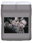Frankenstein And Wife  Duvet Cover