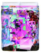 Frankenstein In Abstract Cubism 20170407 Duvet Cover