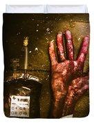 Frankenstein Transplant Experiment Duvet Cover