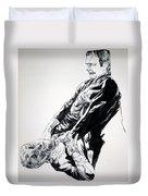 Frankenstein Vs. The Wolfman Duvet Cover