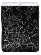 Frankfurt Germany Dark Map Duvet Cover