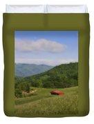 Franklin County Virginia Red Barn Duvet Cover by Teresa Mucha