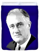 Franklin D. Roosevelt Grayscale Pop Art Duvet Cover