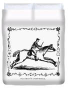 Franklin: Post Rider, 1775 Duvet Cover