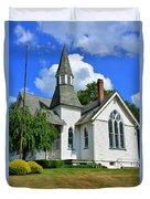 Franklin Square Church Vertical Duvet Cover