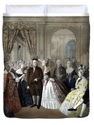 Franklin's Reception At The Court Of France Duvet Cover