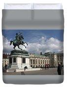 Franz Joseph Equestrian Statue Duvet Cover