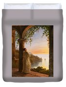Franz Ludwig Catel  A Monk Meditating In A Cloister Duvet Cover