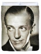 Fred Astaire, Vintage Actor And Dancer Duvet Cover