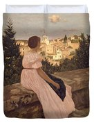 Frederic Bazille   The Pink Dress Duvet Cover