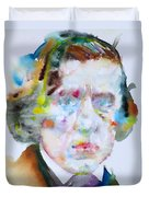 Frederic Chopin - Watercolor Portrait Duvet Cover