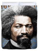 Frederick Douglass And Emancipation Proclamation Painting In Color  Duvet Cover