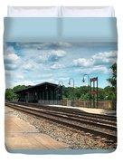 Fredericksburg Rail Station Duvet Cover
