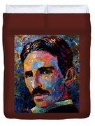 Free Energy Nikola Tesla Duvet Cover