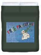 Free Palestine Peace Duvet Cover