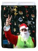 Free Palestine Santa Duvet Cover