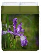 Free Ranging Wild Iris Duvet Cover